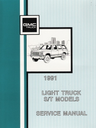 1991 Light Truck S/T Models Service Manual - 3 Volume Set