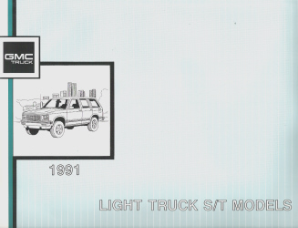 1991 GMC Light Duty Truck S/T Models Factory Electrical Diagrams and Diagnosis Manual