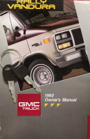 1992 GMC Rally Vandura Owner's Manual