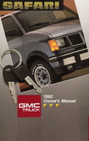 1992 GMC Safari Owner's Manual