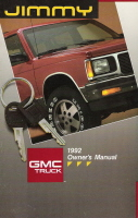 1992 GMC Jimmy Owner's Manual