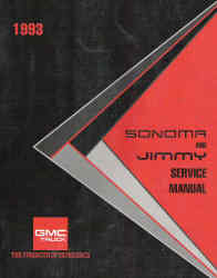 1993 GMC Sonoma and Jimmy Factory Service Manual