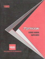 1993 GMC Typhoon Factory Service Manual Supplement