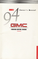 1994 GMC Forward Control Chassis Owner's Manual