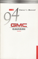 1994 GMC Safari Owner's Manual