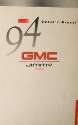 1994 GMC Jimmy Owner's Manual