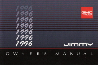 1996 GMC Jimmy Owner's Manual