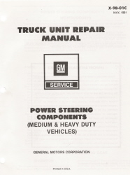 1981 GM Medium/Heavy Duty Trucks Power Steering Unit Repair Manual