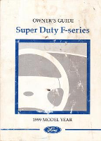1999 Ford F-Series Super Duty Owner's Manual