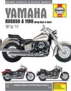 1998 - 2011 Yamaha XVS650, XVS1100, Drag Star, V-Star Haynes Repair Manual