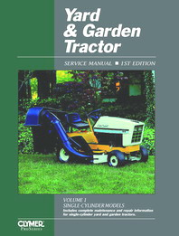 1991 and Earlier  Yard & Garden Tractor Clymer Service Manual Vol. 1: Single-Cylinder Models