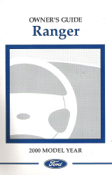 2000 Ford Ranger Owner's Manual with Case