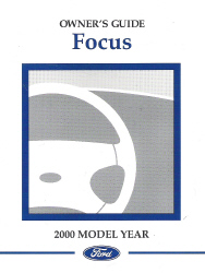 2000 Ford Focus Owner's Manual with Case