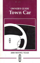2000 Lincoln Town Car Owner's Manual with Case