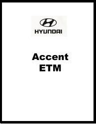 1995 - 1996 Hyundai Accent Electrical Troubleshooting Manual - ETM