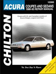 1986 - 1993 Acura Coupes and Sedans Chilton's Total Car Care Manual