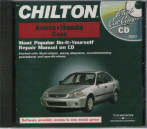 1984 - 2000 Chilton's ACURA & HONDA Repair CD-ROM