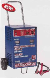Associated 6 / 12 Volt, 40 / 10 Amp Battery Charger with 350 Amp Boost