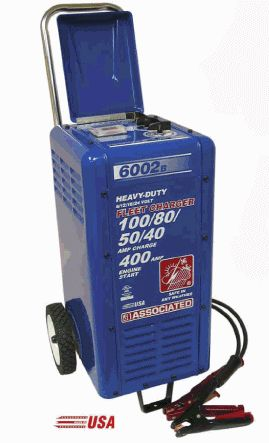 Associated 6 / 12 / 18 / 24 Volt,  400 Amp Battery Charger
