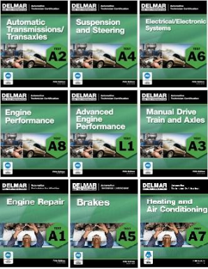 ASE Test Prep Manuals - Automobile Partial Set  A1- A8 & L1 CENGAGE / DELMAR