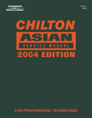 2004 Chilton's Asian Model Service Manual (2000 - 2003 Year coverage)