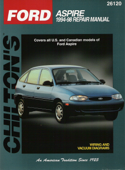 1994 - 1997 Ford Aspire Chilton's Total Car Care Manual
