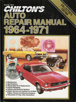 1964 - 1971  Chilton's Auto Repair Manual - Good