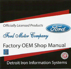 1967 Mercury Cougar, Ford Mustang, Falcon, Fairlane Factory Shop Manual & Parts Book CD-ROM