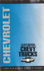 1994 Chevrolet S-10 Blazer Owners Manual