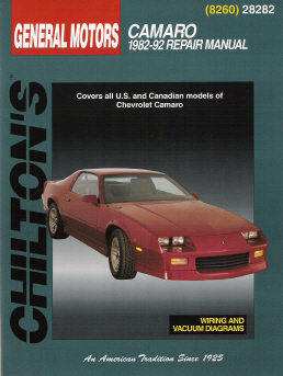 1982 - 1992 Chevrolet Camaro Chilton's Total Car Care Manual