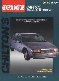 1990 - 1993 Chevrolet Caprice Chilton's Total Car Care Manual