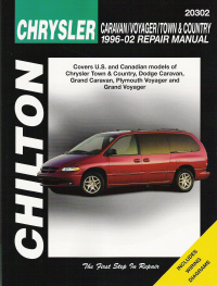 1996 - 2002 Chrysler Town & Country, Dodge Caravan, Grand Caravan, Plymouth Voyager & Grand Voyager, Chilton's Total Car Care Manual