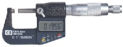 Chicago Brand Electronic Digital Micrometer reads to 50 millionths of an inch
