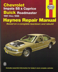 1991 - 1996 Chevrolet Impala SS & Caprice & Buick Roadmaster, Haynes Repair Manual