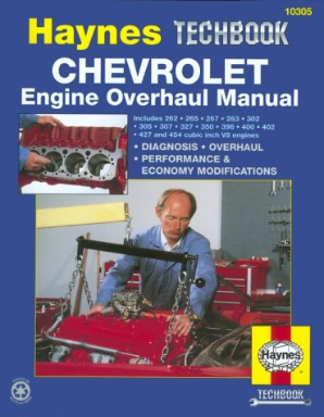 Chevrolet V8 Engine Overhaul Haynes Techbook
