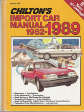 1982 - 1989 Chilton's Import Auto Repair Manual