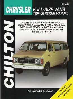 1967 - 1988 Dodge & Plymouth Vans Chilton's Total Car Care Manual