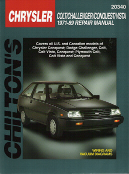 1971 - 1989 Dodge Colt, Challenger, Conquest, Vista Chilton's Total Car Care Manual