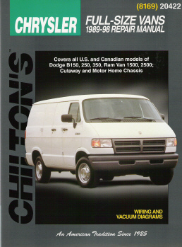 1989 - 1998 Dodge & Plymouth Vans Chilton's Total Car Care Manual