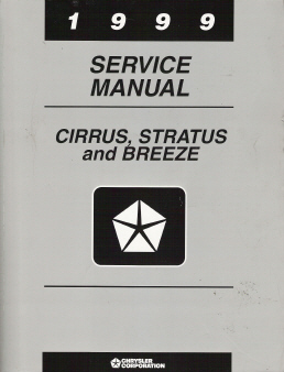 1999 Chrysler Cirrus, Dodge Stratus & Plymouth Breeze Factory Service Manual