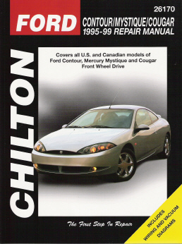 1995 - 1999 Ford Contour, Mercury Mystique & Cougar Chilton's Total Car Care Manual