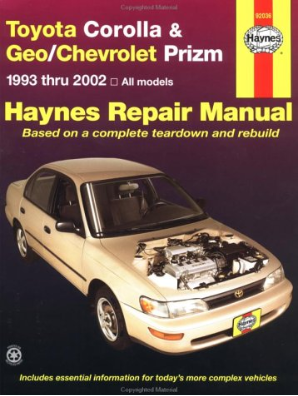 1993 - 2002 Toyota Corolla & Geo / Chevrolet Prizm, Haynes Repair Manual