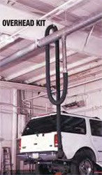 Crushproof Overhead Exhaust Hose Kit For Gas Trucks
