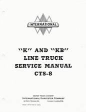 "1940.5 - 1949 ""K"" & ""KB"" Line International Truck Factory Service Manual"