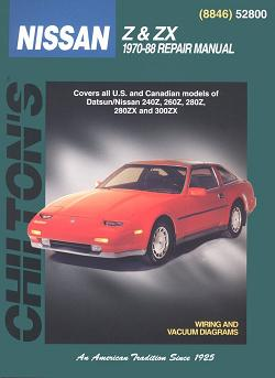 1970 - 1988 Datsun, Nissan 240Z, 260Z, 280Z, 280ZX, 280ZX Turbo, 300ZX & 300ZX Turbo Chilton's Total Car Care Manual