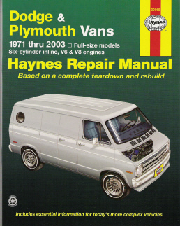 1971 - 2003 Dodge & Plymouth Vans, Haynes Repair Manual