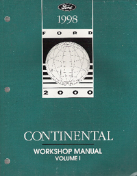 1998 Lincoln Continental Factory Workshop Manual - 2 Volume Set