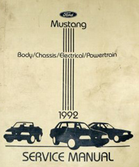 1992 Ford Mustang Factory Service Manual