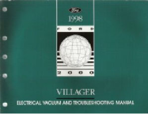 1998 Mercury Villager EVTM- Electrical and Vacuum Troubleshooting Manual