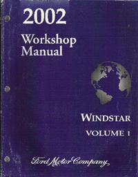 2002 Ford Windstar Factory Service Manual   2 Volume Set